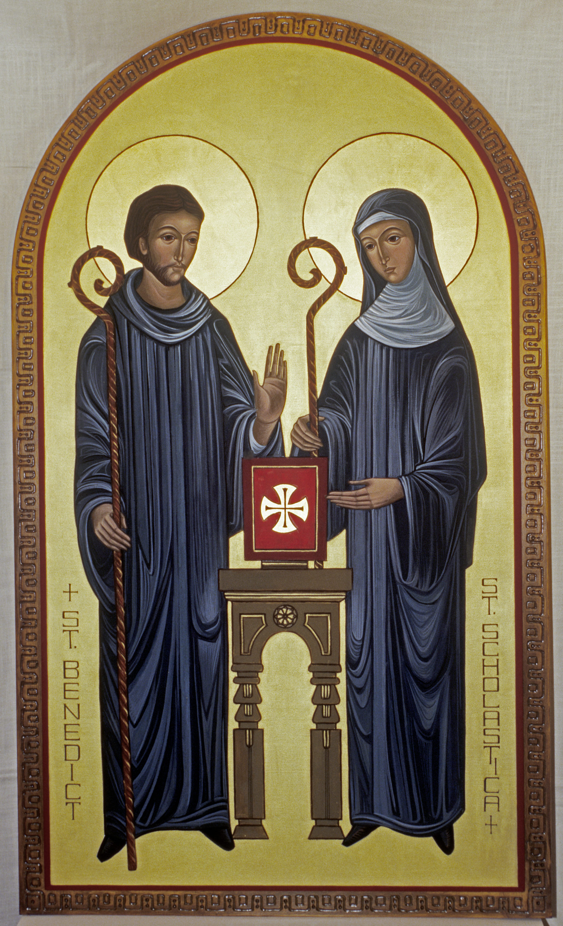 St. Benedict and St. Scholastica by +Sister Mary Charles McGough