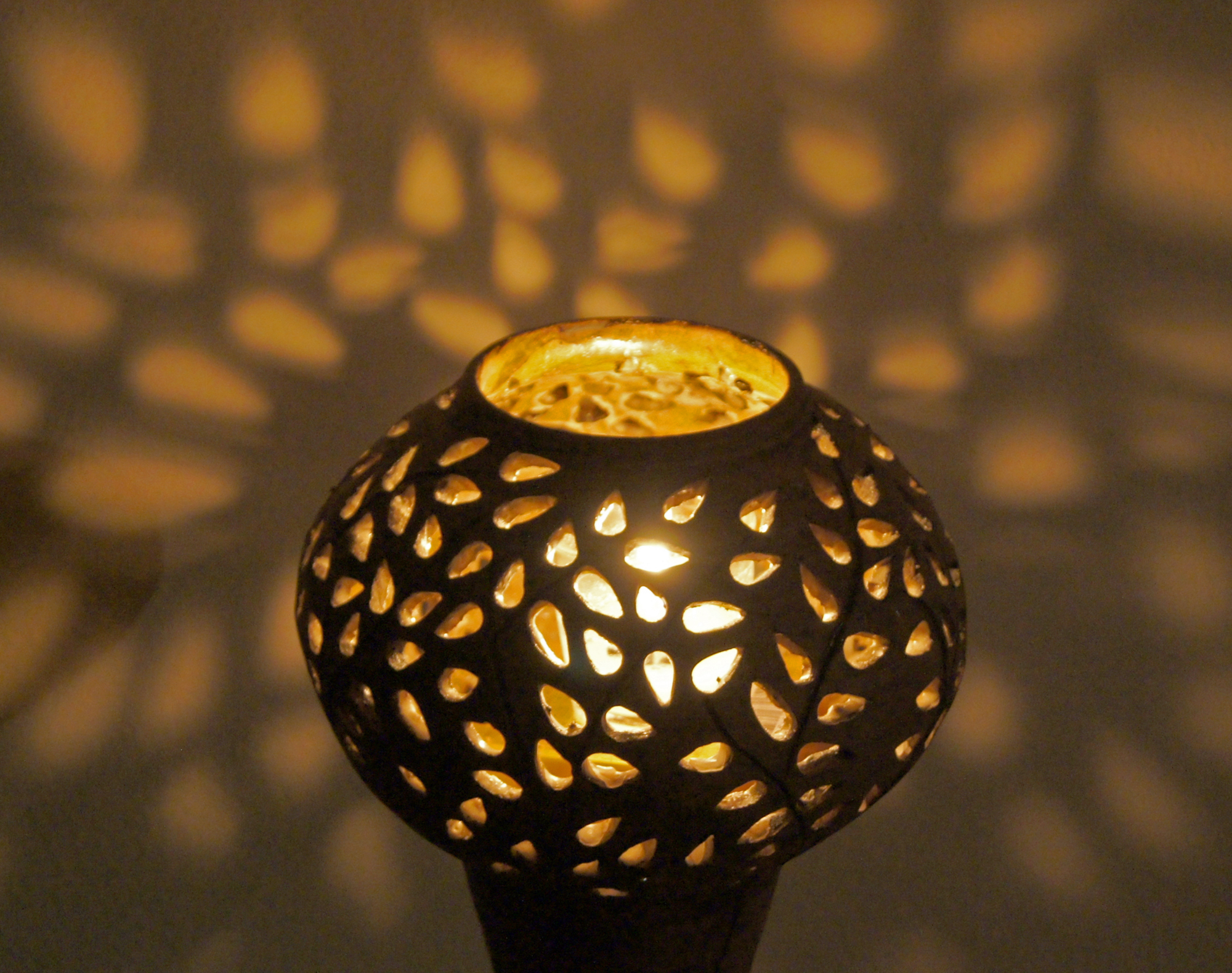 Votive lamp by icon of Mary of the Myrtle Tree